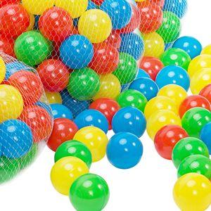 Spielbälle Bällebad 200 Bunte Bälle Ø5,5cm inkl. Tragetasche für Kugelbad Spielzelt Kinderzelt Ball Kinder Spielwerk®, Anzahl:200 Bälle