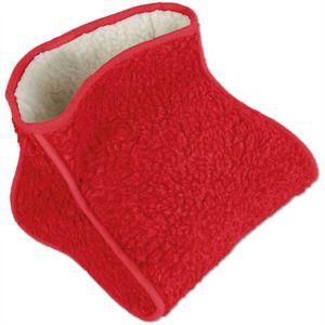 Fußwärmer Lammflor Fussack Wärmeschuh Zehenwärmer Einheitsgröße Auswahl: Rot