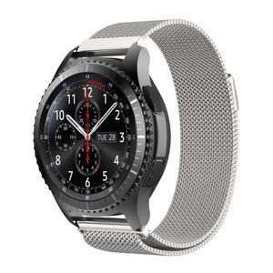 Ersatz Metall Armband für Samsung Gear S3 Frontier 22mm Classic Band Magnetverschluss Edelstahl