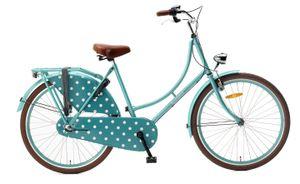 Popal Kinderfahrräder Mädchen Omafiets 26 Zoll 46 cm Mädchen 3G Rücktrittbremse Türkis