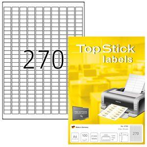 TOP STICK Universal-Etiketten 17,8 x 10 mm weiß 27.000 Etiketten