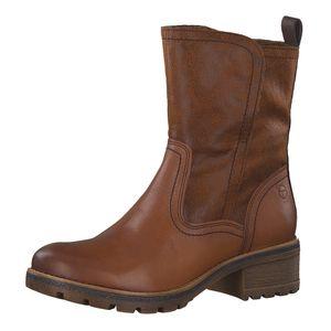 Tamaris Damen Winter Stiefel 26462 RV Leder Boots Cognac (braun), Größe:39