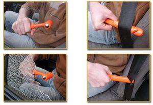 ProPlus Nothammer mit Gurtschneider Orange 15,5 cm