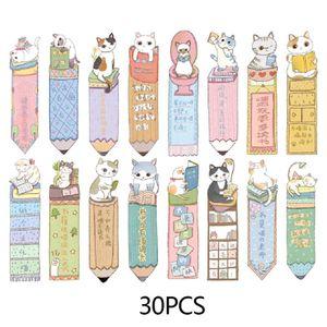 30pcs Nette Katze Lesezeichen Papier Cartoon Tiere Lesezeichen Kinder Student Geschenk Lesezeichen