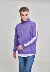Urban Classics TB2399  Oversize Sweat Shoulder Stripe Troyer, Größe:S, Farbe:ultraviolet/white