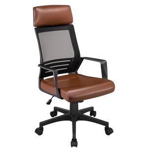 Yaheetech Bürostuhl Bürodrehstuhl Drehsessel Schreibtischstuhl Computerstuhl höhenverstellung, mit hoher Rückenlehne