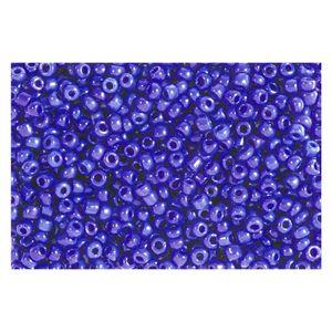 Rocailles violett opak 2,5mm Perlen - 500g Großpackung (ca. 16.000 Stück)