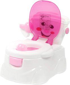 Kindertoilette Kinder Töpfchen Lerntöpfchen Toilettentrainer Sitze mit Süßausdruck für 6 Monaten bis 5 Jahre (Rosa)