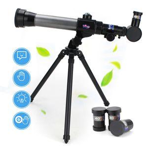 20x-40x Kinderastronomie  360° Teleskop Wissenschaftsexperiment HD Okular Mit Dehnbarem Stativ Kinderpädagogik Und Bildungsteleskop Set Für Kinder