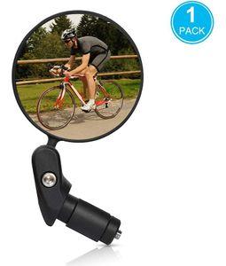 1 STÜCKE 360° Drehspiegel Fahrradspiegel für 17.4-22mm Flacher Lenker, Rückspiegel Lenkerspiegel Konvexen Reflektor Spiegel mit Weitwinkelobjektiv für Fahrrad E Bike Mountainbikes