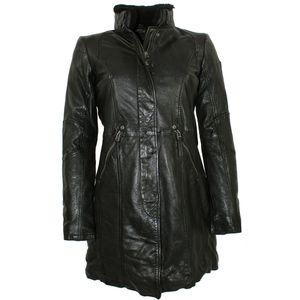 Gipsy - Damen Ledermantel Lammnappa schwarz : XL