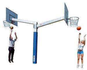 "Sport-Thieme Basketballanlage ""Fair Play Duo"", Korb ""Outdoor"", Zielbrett: Gittergewebe"