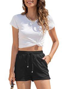 Sexydance Frauen Freizeithose Sports Yoga Shorts Beach Hot Pants Sweatshorts,Farbe:Schwarz,Größe:XL