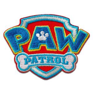 Paw Patrol © Logo - Aufnäher, Bügelbild, Aufbügler, Applikationen, Patches, Flicken, zum aufbügeln, Größe: 4,7 x 6,4 cm