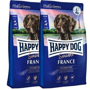2 x 12,5 kg Happy Dog Supreme Sensible France