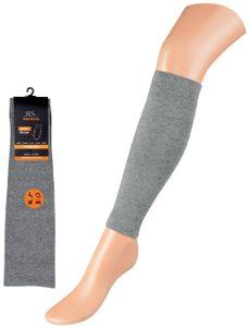 2 Paar Kompressionsstrümpfe ohne Fuß Stütz-Stulpen Wadenkompression Beinlinge silber Gr. S/M