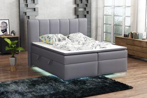Boxspringbett Schlafzimmerbett ANGEL 140x200cm inkl.Bettkasten/ LED