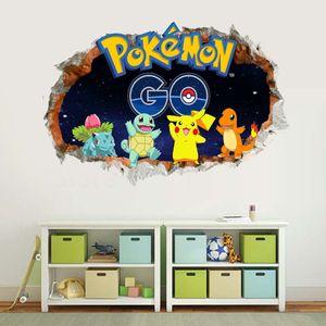 Wandtattoos  Elf Ball Pikachu 3D Wand Aufkleber Cartoon Pokémon GEHEN Dekorative Aufkleber