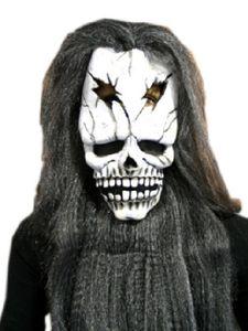 Maske Tod Skelett Totenkopf Haar Bart Halloween Schädel