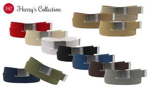Stoff Gürtel 40mm Breite starkes Band! 12 Farben, Farben:schwarz