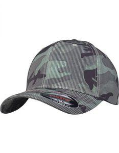 Flexfit Camo Stripe Cap - Farbe: Green Camo - Größe: L/XL