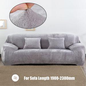Winter warme Sofabezug Volltonfarbe Plüsch Sofa Schonbezug Vollbezug All-inclusive elastischer Sofaschutz Waschbar