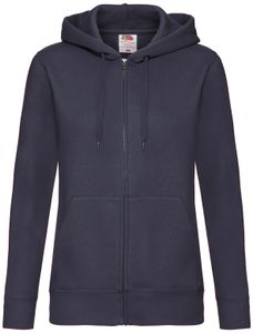 Fruit of the Loom Premium Hooded Sweat Jacket Lady-Fit, Farbe:deep navy, Größe:L