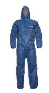 DUPONT Einweganzug Einweg-Overall Schutzanzug Schutz-Anzug KAT 3 Typ 5/6 blau, Größe:XL