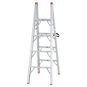 HOMCOM Faltbare Leiter, Klappleiter, Stehleiter, Aluminium, Silber, 93 x 48 x 151 cm, 150 kg Belastbarkeit