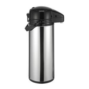 Thermoskanne Kaffeekanne Edelstahl 1,9 Liter Isolierkanne Teekanne Thermo Kaffee Tee Kanne Airpot Pumpkanne Getränkespender