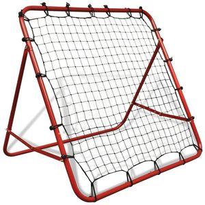 vidaXL Fußballtornetz Einstellbar 100 x 100 cm