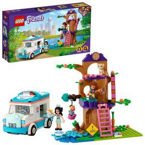 LEGO 41445 Friends Tierrettungswagen Spielzeugauto, Tierrettung Spielset mit Olivia und Emma Minipuppen