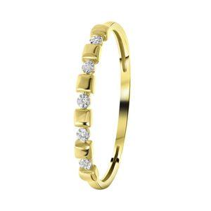 Ring, 585 Gelbgold, 5 Diamanten (0,015 ct) -  55