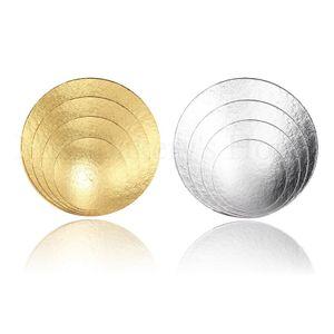 Cake Board - 2 mm - Ø 15 cm + Ø 20 cm +Ø 25 cm + Ø 30 cm - Silber & Gold - 4 Stück