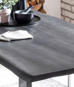 Sit Möbel Tische & Bänke Tisch 140 x 80 cm, Platte antikgrau, Gestell silbern L = 140 x B = 80 x H = 77 cm Platte antikgrau lackiert, Gestell antiksilbern lackiert