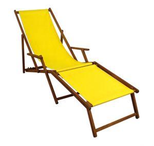 Gartenliege gelb Liegestuhl klappbare Sonnenliege Deckchair Strandstuhl Gartenmöbel 10-302 F