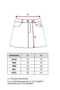 Damen Jeansrock Midi Cargo Rock mit Seitentaschen Skirt, Farben:Blau, Größe:36