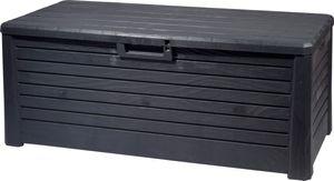 dobar Outdoor Gartentruhe mit 550l Stauraum, XXL Auflagenbox, 148 x 72 x 60 cm, Kunststoff, Anthrazit