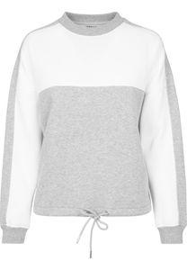 Urban Classics Damen Pullover Ladies Oversize 2-Tone Stripe Crew Grey/White-XS