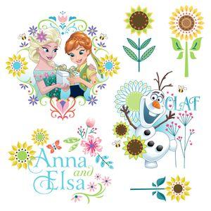 """Komar Window-Sticker """"Frozen Flower"""", bunt, 31 x 31 cm"""