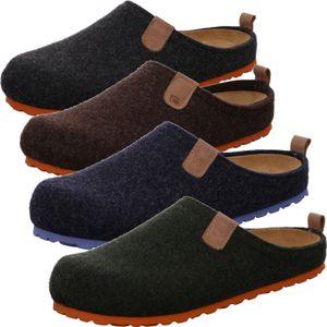 Rohde Herren Pantoffeln Hausschuhe Softfilz Napoli-H 6900, Größe:47 EU, Farbe:Grün