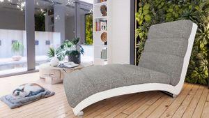 Mirjan24 Sessel Holiday Relaxsessel Liegesessel Relaxliege mit verchromte Füße Elegant Fernsehsessel Design Wohnzimmer (Soft 017 + Lawa 05)