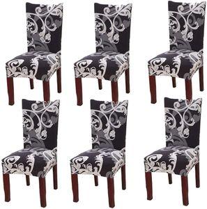 Universal Stretch Stuhlhussen 6er Set Stuhlbezug für Stuhl Esszimmer Europäischer König