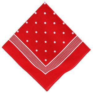 Betz XXL Nickituch  Größe 70x70 cm Bandana Halstuch  100% Baumwolle Punkte Farbe rot