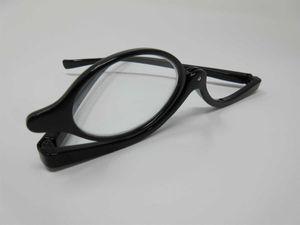 Schminkbrille für DAMEN +1,0 schwarz Lesebrille Schminkhilfe mit Federbügel Etui