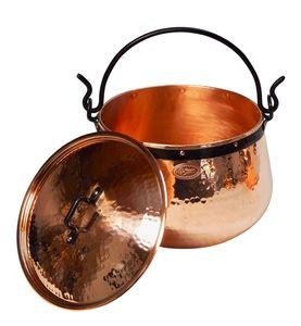 'CopperGarden' Kupferkessel 20 Liter mit Deckel - Hexenkessel