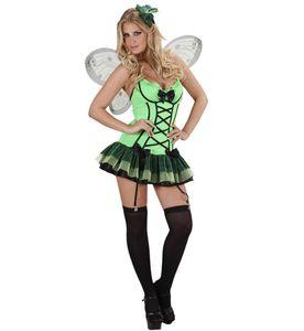 Schmetterling Kostüm Faschingskostüm Karnevalskostüm grün Gr.S Neu