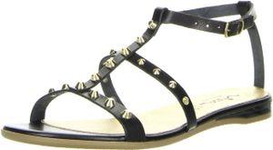 Vista Damen Römersandaletten Nieten schwarz, Größe:38, Farbe:Schwarz