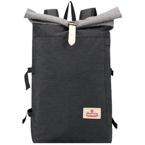 Soarpop Rucksack Roll Top Casual Daypack Passt 14,6 Zoll Laptop Männer Frauen Travel School Rucksack (BB4379BMK)
