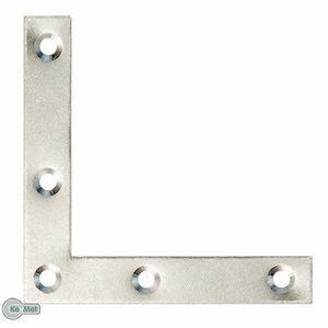 100 Möbelwinkel Flachwinkel Eckwinkel 40 x 40 x10 x 1,5 Silber Verzinkt 5 Löcher